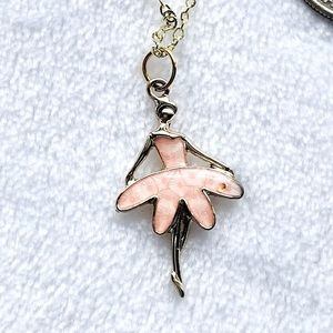 Ballerina in Pink 10k Gold Plated Necklace…